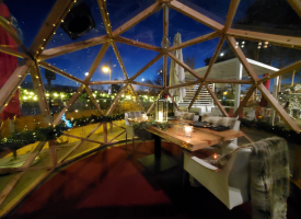 The view from Posta Geo Dome for dining under the stars!